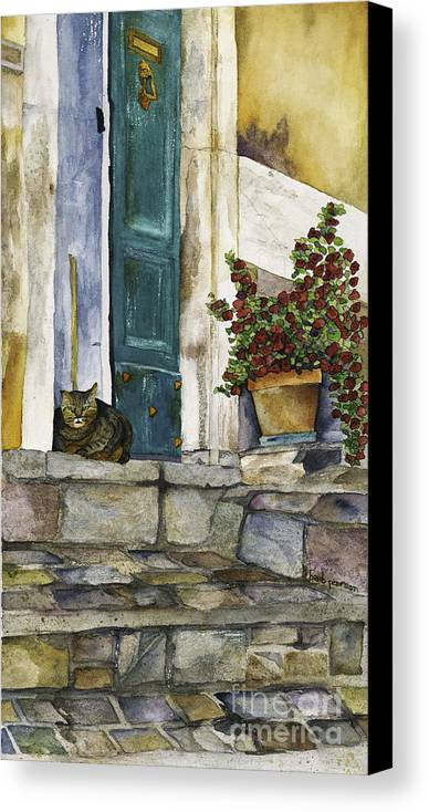 Cat Canvas Print featuring the painting Di Gatto by Barb Pearson
