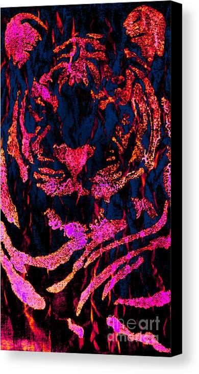 Fantasy Canvas Print featuring the digital art Fantasy Tiger 1 by JD Poplin