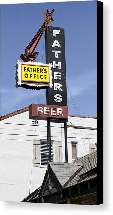 Food And Beverage Canvas Print featuring the photograph Father's Office by Gene Parks