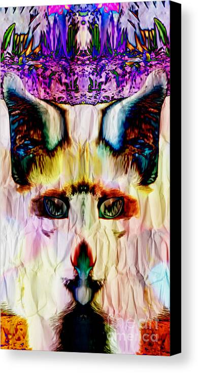 Abstract Canvas Print featuring the digital art Paper Fox by JD Poplin