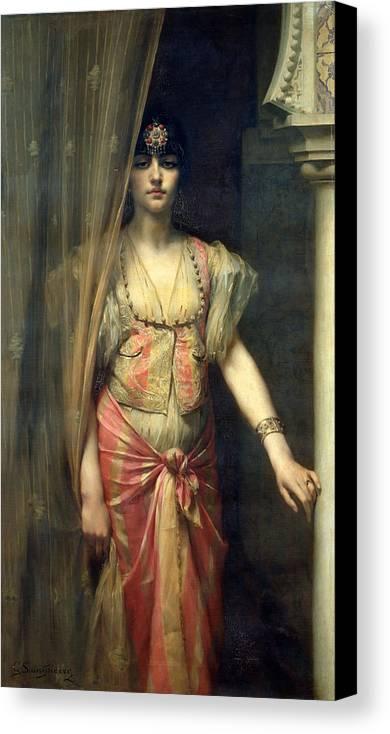Xcg154057 Canvas Print featuring the painting Soudja Sari by Gaston Casimir Saint Pierre