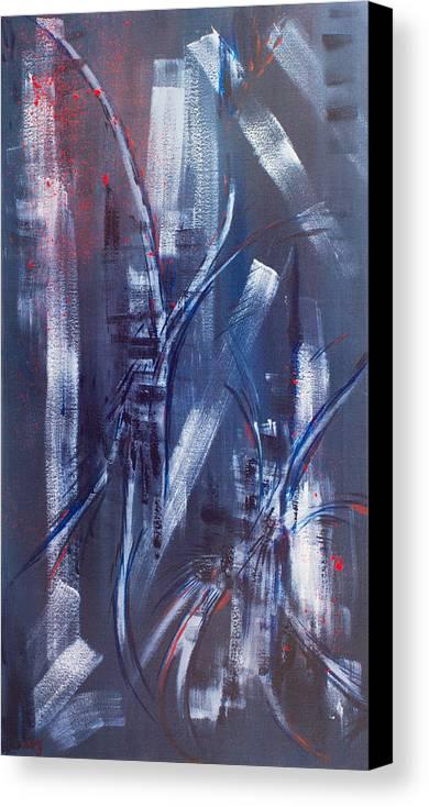 Original Canvas Print featuring the painting Street Life by Mariia Malygina