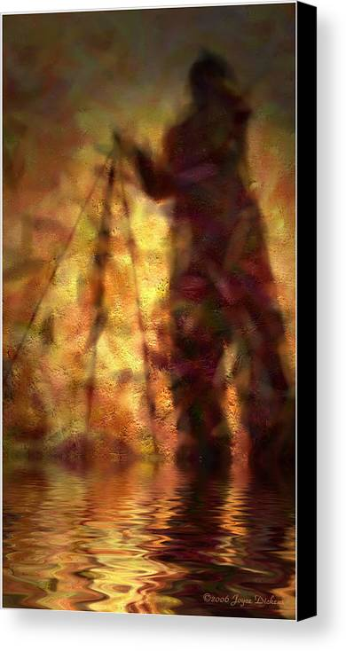 Photographer Canvas Print featuring the photograph The Photographer In Water by Joyce Dickens