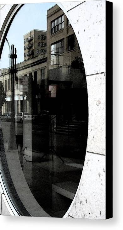 Uptown Canvas Print featuring the photograph Uptown Abstract 1 by Gary Everson