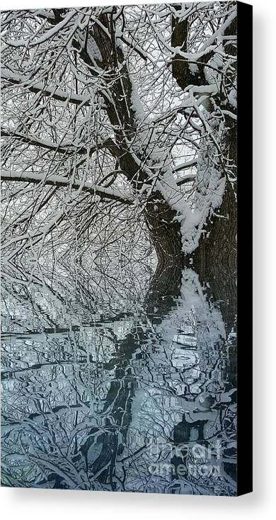 Canvas Print featuring the digital art Winter Blitz by James Haynes