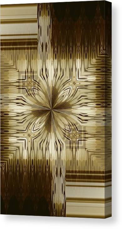 Abstract 15-02 Canvas Print featuring the digital art Abstract 15-02 by Maria Urso