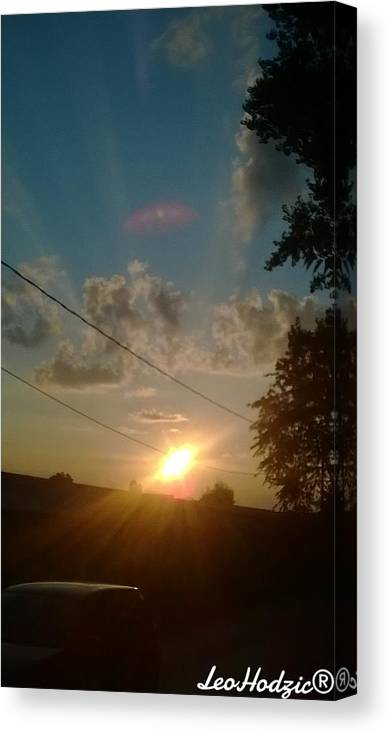 Sun Canvas Print featuring the photograph Amazing by Ajdin Leo