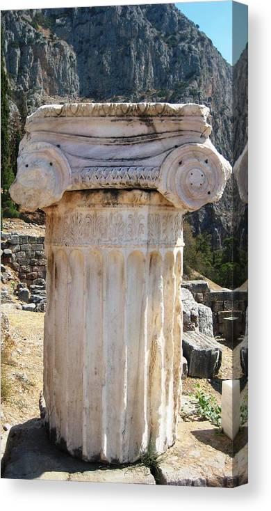 Athens Canvas Print featuring the photograph Ancient Delphi 12 by Teresa Ruiz