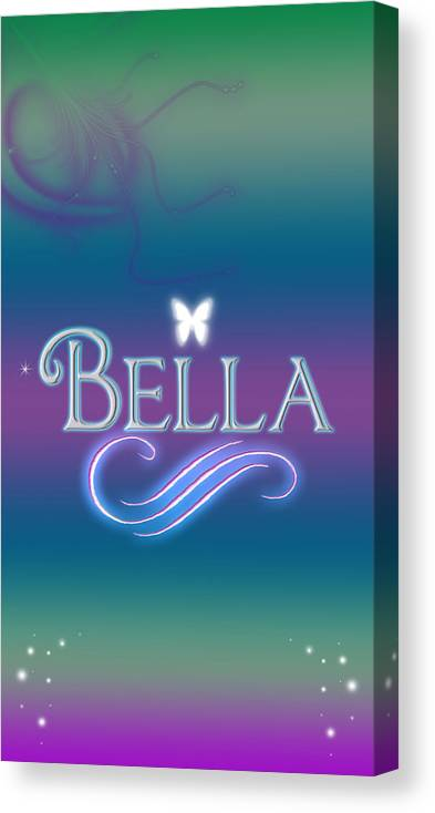 66eaf9178f6e3 Abby Canvas Print featuring the digital art Bella Name Art by Becca Buecher