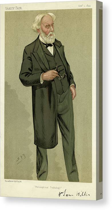 Samuel Canvas Print featuring the drawing Sir Samuel Wilks British Physician by Mary Evans Picture Library