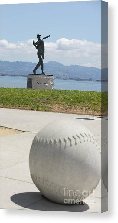Hall Of Fame Canvas Print featuring the photograph Willie Mccovey -- Giants 2014 World Champs by David Bearden