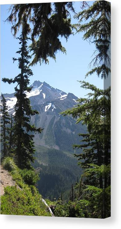 Mountains Canvas Print featuring the photograph Clear View by Lisa Spencer Osterhoudt