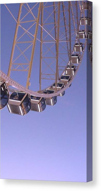 Ride Canvas Print featuring the photograph Seattle Ferris Wheel by Rylee Stearnes