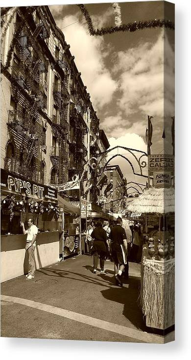 San Gennaro Canvas Print featuring the photograph Streets Of Little Italy by Catie Canetti
