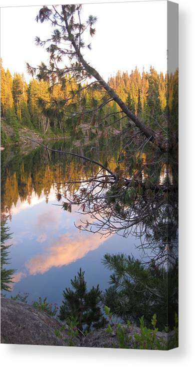 High Lakes Canvas Print featuring the photograph Tenas Lakes by Lisa Spencer Osterhoudt