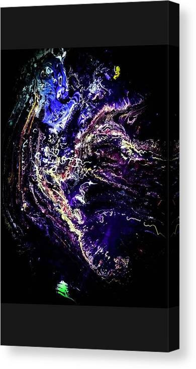 Abstract Canvas Print featuring the painting Blessed Horse by Rick Reesman