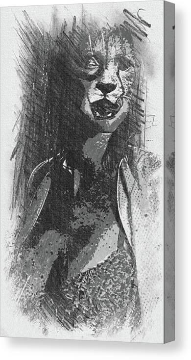 Cheetah Canvas Print featuring the digital art Cheetah by Robert Hill
