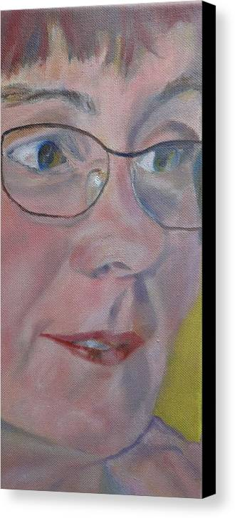 Portrait Canvas Print featuring the painting A Listener by Irina Stroup
