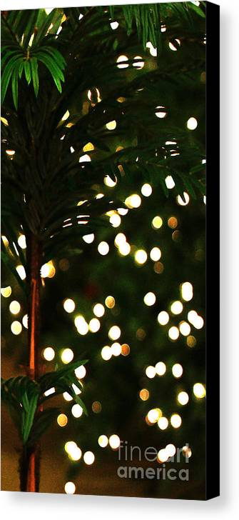 Christmas Canvas Print featuring the photograph Christmas Palm by Linda Shafer