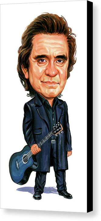 Johnny Cash Canvas Print featuring the painting Johnny Cash by Art