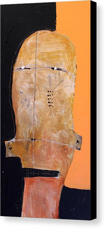 Face Canvas Print featuring the painting Sollemne No. 3 by Mark M Mellon