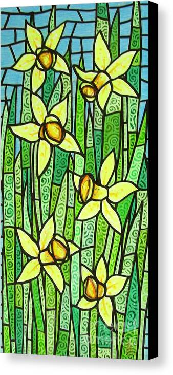 Jonquils Canvas Print featuring the painting Jonquil Glory by Jim Harris