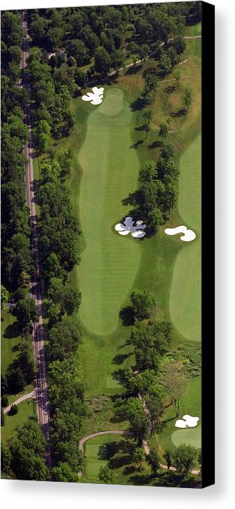 Philadelphia Cricket Club Canvas Print featuring the photograph Philadelphia Cricket Club Militia Hill Golf Course 13th Hole by Duncan Pearson