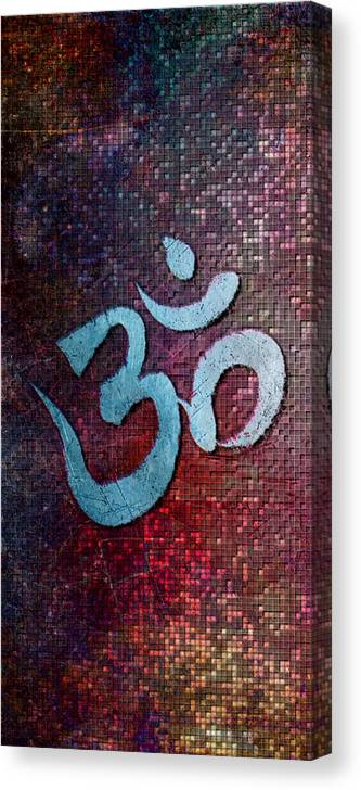 Om Canvas Print featuring the digital art Om 20141021 by Mitchell Lindquist
