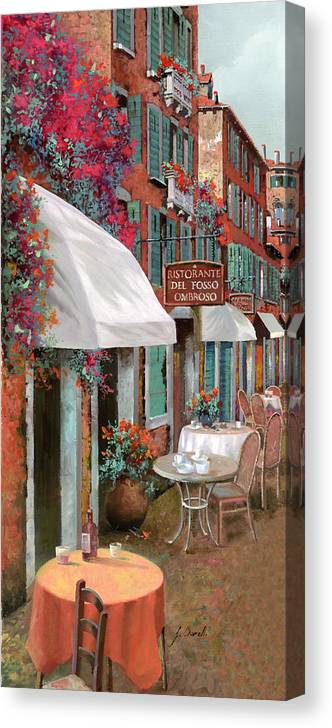 Table Canvas Print featuring the painting Che Tavolo Vuoi by Guido Borelli