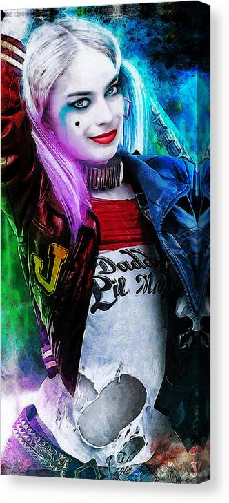 Heroes Canvas Print featuring the digital art Daddys Little Girl by Canvas Cultures