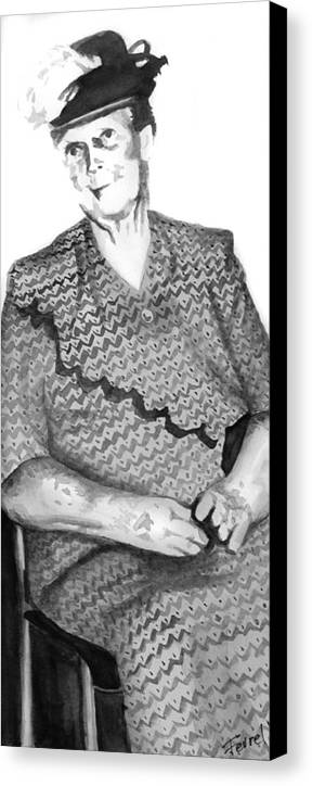 Grandmother Canvas Print featuring the painting Grandma by Ferrel Cordle