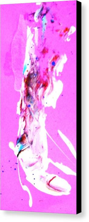 Magenta Canvas Print featuring the painting Grenade Left Big Toe Or Thumb by Bruce Combs - REACH BEYOND