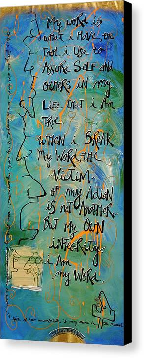 Gallery Canvas Print featuring the painting Word by Dar Freeland