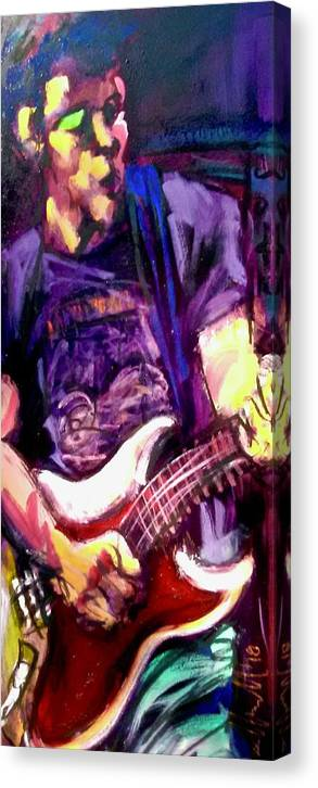 Painting Canvas Print featuring the painting Looooo... by Les Leffingwell