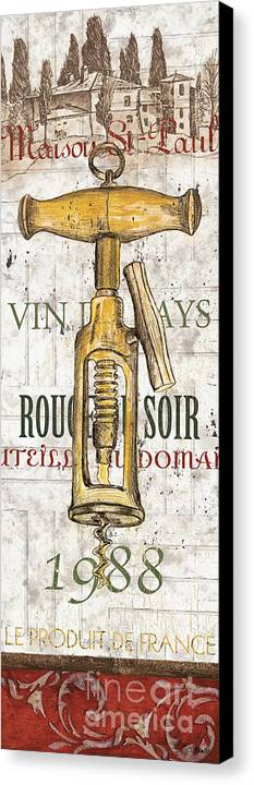 Wine Canvas Print featuring the painting Bordeaux Blanc 1 by Debbie DeWitt