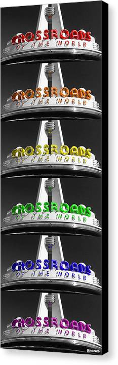 Crossroads Canvas Print featuring the photograph Crossroads Panorama by Al Blackford