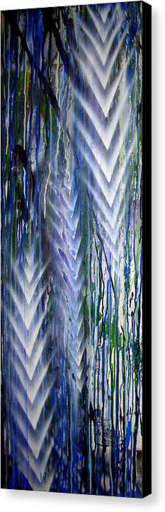 Rain Canvas Print featuring the painting Rain 2 by Leigh Odom