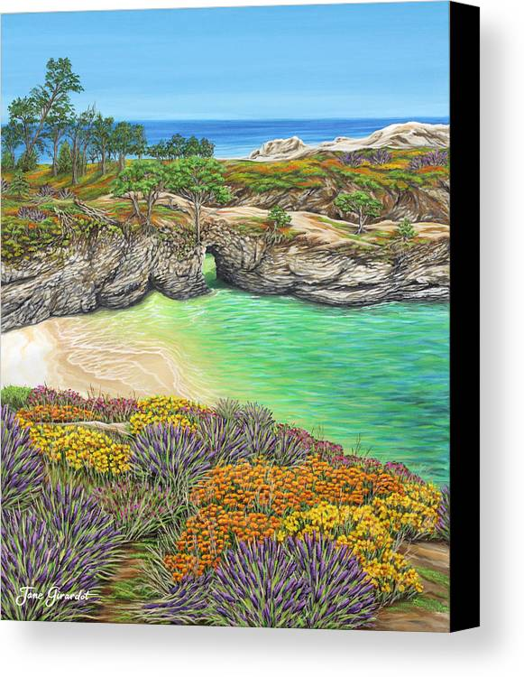 Ocean Canvas Print featuring the painting China Cove Paradise by Jane Girardot