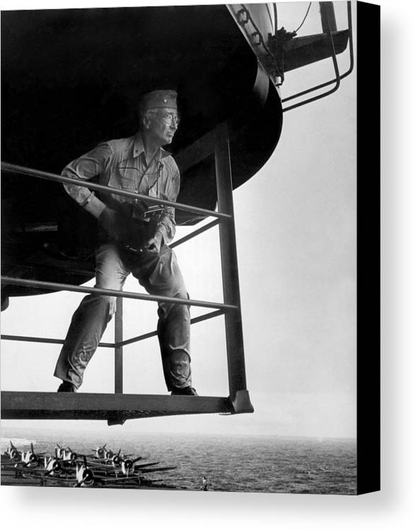 History Canvas Print featuring the photograph Edward Steichen, Joined The U.s. Navy by Everett