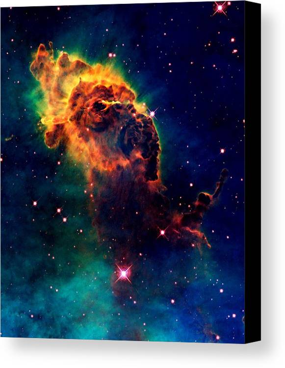 Hubble Canvas Print featuring the photograph Jet In Carina by Amanda Struz