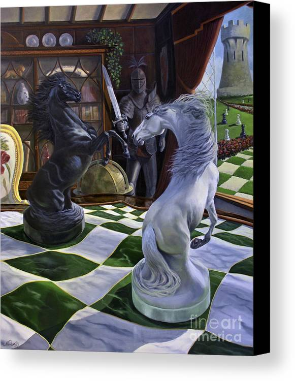 Horse Canvas Print featuring the painting Knight's Magic by Jeanne Newton Schoborg