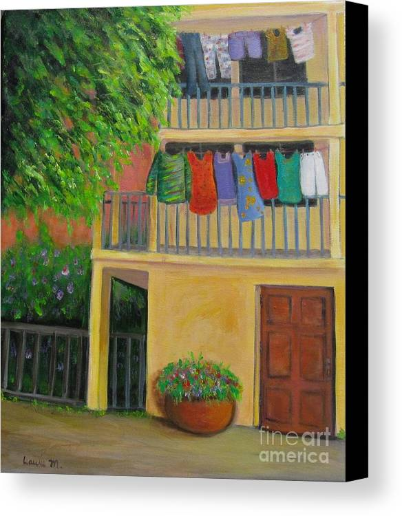 Laundry Canvas Print featuring the painting Laundry Day by Laurie Morgan