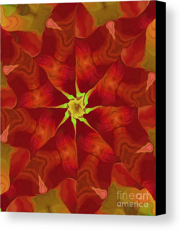 Abstract Canvas Print featuring the digital art Release Of The Heart by Deborah Benoit