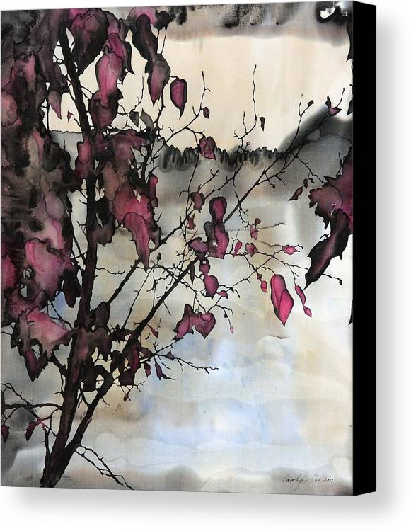 Batik Canvas Print featuring the tapestry - textile Sand Creek by Carolyn Doe