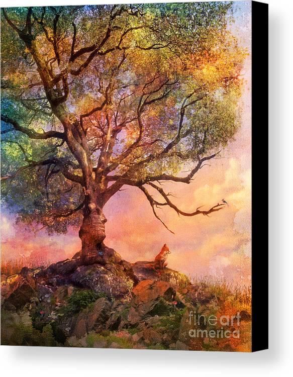 Sunset Canvas Print featuring the digital art Sunset At Fox Mountain by Aimee Stewart