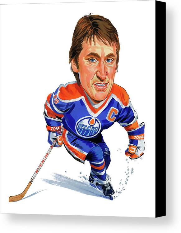 Wayne Gretzky Canvas Print featuring the painting Wayne Gretzky by Art