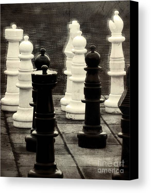 Chess Canvas Print featuring the photograph Your Move by Colleen Kammerer