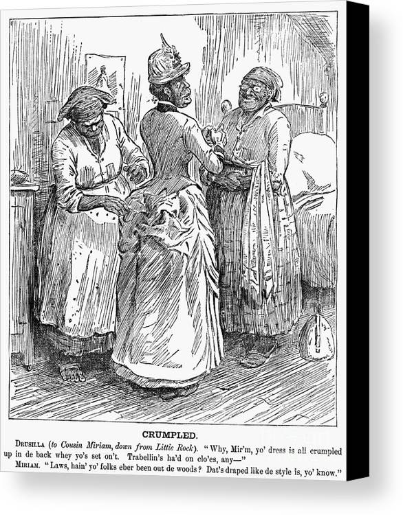 1886 Canvas Print featuring the photograph Racial Caricature, 1886 by Granger