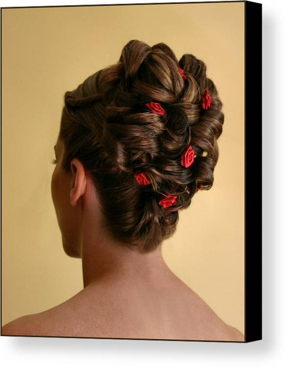 Hairstyle Canvas Print featuring the photograph Rosettes by Kristin Elmquist