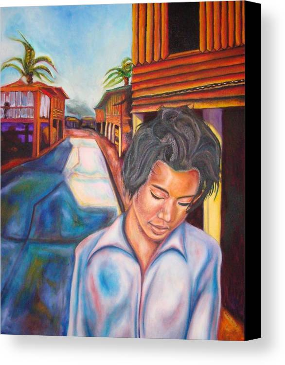 Portrait Canvas Print featuring the painting Wang I Po by Kennedy Paizs